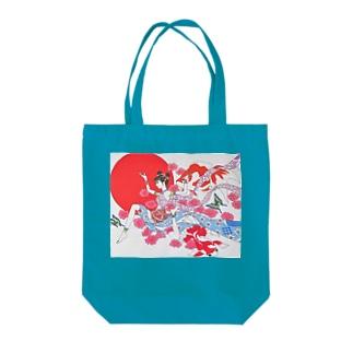 天女 Tote bags