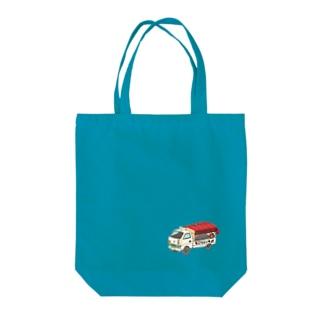 石焼ゴリライモ Tote bags