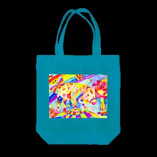 shu-shuの水彩イラスト ブタ Tote bags