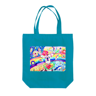 shu-shuの水彩イラスト シカ Tote bags