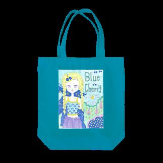 kaoru_littieのBlue cherry Tote bags