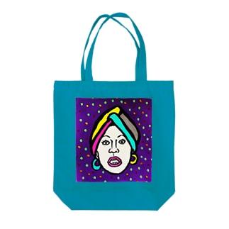 ターバンB Tote bags