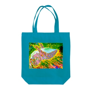 STARDUST  WHALE Tote bags