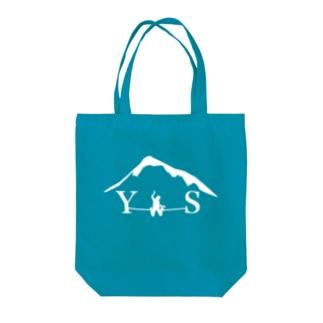 YSダブルドロップニー-ホワイト Tote bags