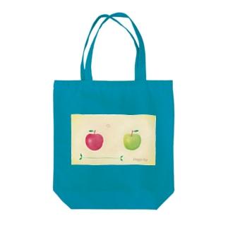 赤りんごと青りんご Tote bags