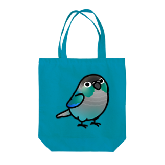 Cody the LovebirdのChubby Bird ウロコインコ Tote bags