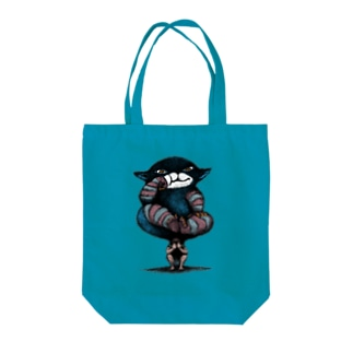 のしかかる猫 Tote bags