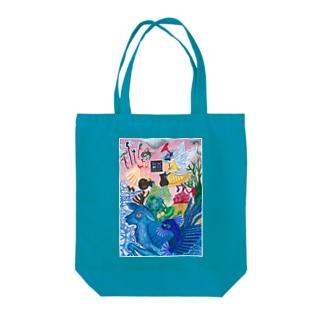 幻獣ペリュントと妖精 Tote bags
