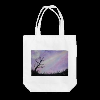 。(テン)オリジナルの空と月 Tote bags