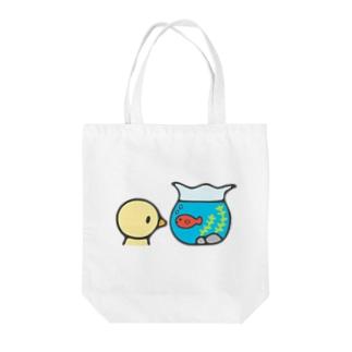 きんぎょばち Tote bags