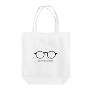 ラウンドフレーム 丸メガネ Tote bags