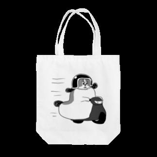 マツバラのもじゃまるバイク移動 黒 Tote bags