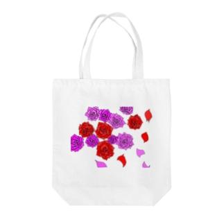 薔薇 赤とピンク Tote bags
