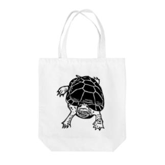 クサガメ Smiley Boggie Tote bags