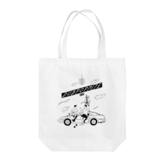 DUBPOPNITE09 mono-w Tote bags