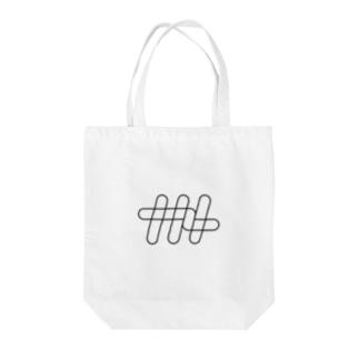 ナナメ[ワイヤーフレーム] Tote bags