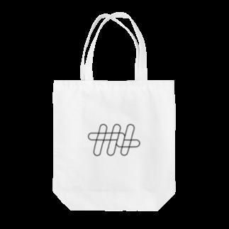 ナナメのナナメ[ワイヤーフレーム] Tote bags