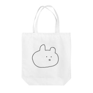 シンプルうさぎ Tote bags