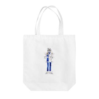 ジェントルオオカミ Tote bags