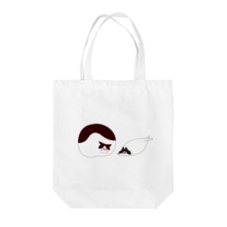 フライドチキン猫とイカみみ猫 Tote bags