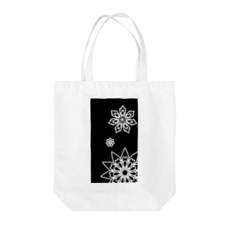 Rin shopの雪の華 Tote bags