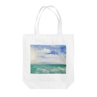 🗻佐渡島ーエコバッグー Tote bags