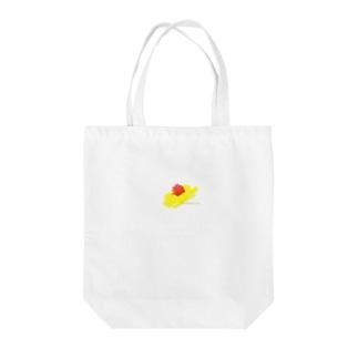 kiiro-omu2 Tote bags