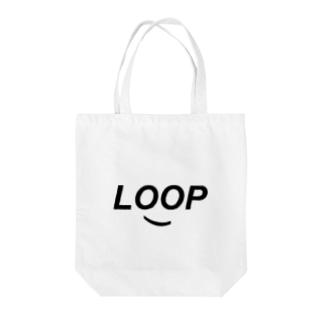 SMILE LOOP Tote bags