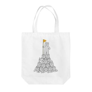 熊ちゃんタワー Tote bags