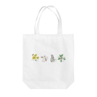 ペルシャ語(フラワー) Tote bags