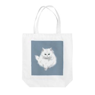 こゆき(おこ)くすみブルー Tote bags
