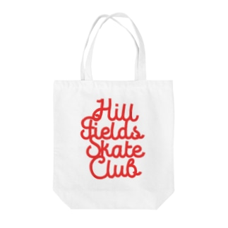 Hill Fields Skate Club_RED Tote bags