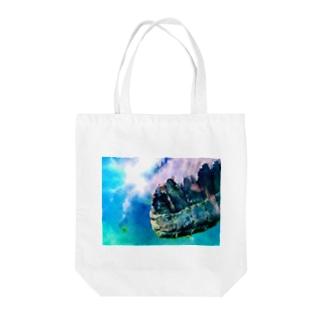 うろこ Tote bags