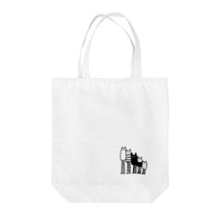 あしながネコちゃんズ Tote bags