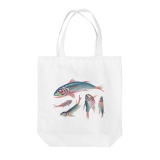 川魚抽象?半抽象。 トートバッグ