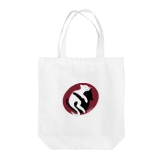 白黒猫ちゃん Tote bags