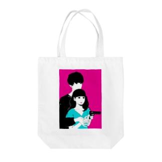 いっしょに○○○ Tote bags