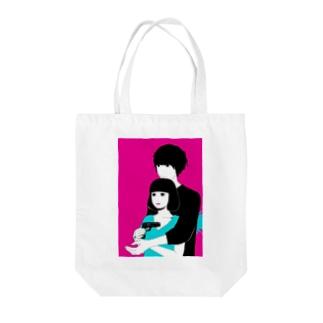 いっしょに○○ Tote bags