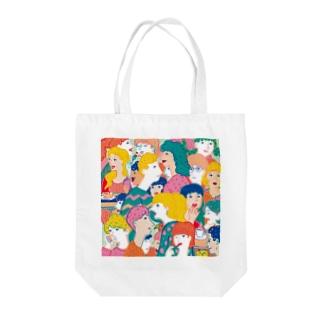 pleasant people Tote bags