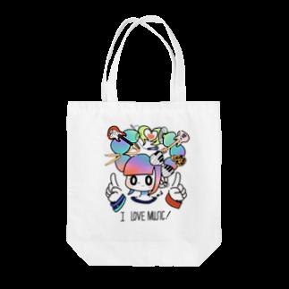 矢島ロパのしょっぷの音楽好きのためのトートバッグ Tote bags