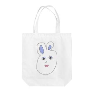 プライドタカコちゃん ウサギ Tote bags
