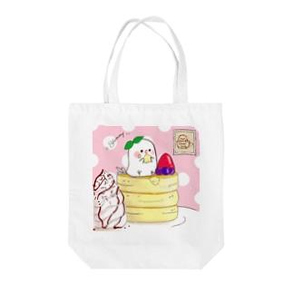 ちゅんカフェpk(P) Tote bags