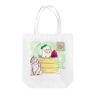 ちゅんカフェPK(ミント Tote bags