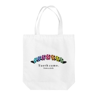 Tooth円陣 Tote bags