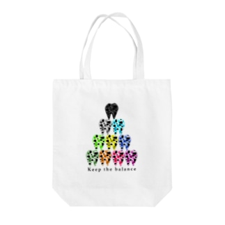 Toothピラミッド Tote bags