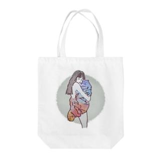 満月と毛布 Tote bags