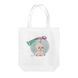 泣き虫ユニコーンブタ Tote bags