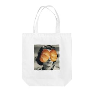 パンの人 Tote bags