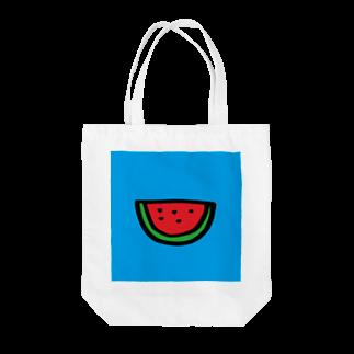 FUKUFUKU=:DESIGNのあのなつのすいか Tote bags