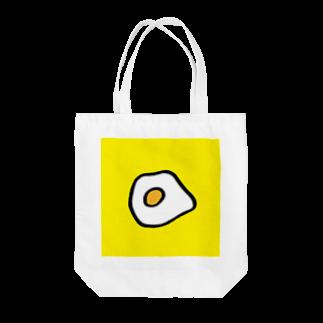 FUKUFUKU=:DESIGNのあさはめだまやき Tote bags
